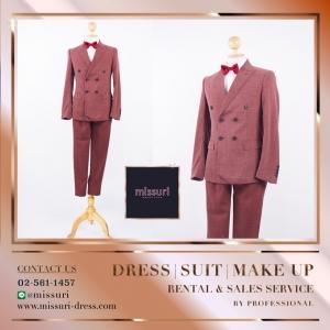 ชุดสูท สีแดง สไตล์ วินเทจ เสื้อสูท สูท ผู้ชาย ( Suits )