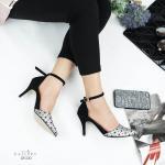 รองเท้าคัทชู ส้นสูง รัดข้อ แต่งลายสไตล์อิซเซ่สวยเก๋ ทรงสวย ส้นสูงประมาณ 3 นิ้ว ใส่สบาย แมทสวยได้ทุกชุด (G5-230)