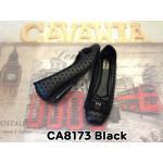 รองเท้าคัทชู ส้นเตี้ย ทรงสวย แต่งลายปักรอบและอะไหล่สวยหรู พื้นนิ่ม ใส่สบาย แมทสวยได้ทุกชุด (CA8173)