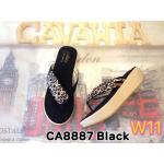 รองเท้าแฟชั่น ส้นมัฟฟิน แบบหนีบ แต่งอะไหล่สวยหรู พื้นนิ่ม ใส่สบาย แมทสวยได้ทุกชุด (CA8887)