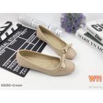 รองเท้าคัทชู ส้นแบน ทรงหัวตัดแต่งโบว์สวยหรู หนังนิ่ม พืนนิ่ม ใส่สบาย แมทสวยได้ทุกชุด (K5050)