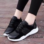 รองเท้าผ้าใบแฟชั่น แต่งลายสวยเก๋ห์สไตล์เกาหลี วัสดุอย่างดี ทรงสวย ใส่สบาย ใส่เที่ยว ออกกำลังกาย แมทสวยเท่ห์ได้ทุกชุด