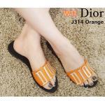 รองเท้าแตะแฟชั่น แบบสวม แต่งอะไหล่สไตล์ดิออร์สวยเก๋ พื้นนิ่ม ใส่สบาย แมทสวยได้ทุกชุด (J314)