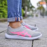 รองเท้าผ้าใบแฟชั่น แบบไร้เชือก แต่งลายข้างสไตล์แบรนด์ วัสดุอย่างดี ทรงสวย ใส่สบาย ใส่เที่ยว ออกกำลังกาย แมทสวยเท่ห์ได้ทุกชุด (17019)