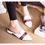 รองเท้าคัทชู เปิดส้น ทรงสวย หัวแหลมเก็บเท้าเรียว แต่งลายสไตล์กุชชี่ ใส่สบาย แมทสวยได้ทุกชุด