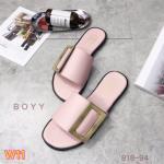 รองเท้าแตะแฟชั่น แบบสวม แต่งเข็มขัดสวยเก๋สไตล์ Boyy ใส่สบาย แมทสวยได้ทุกชุด (818-94)