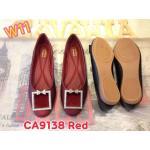 รองเท้าคัทชู ส้นแบน แต่งอะไหล่สวยหรู หนังนิ่มใส่สบาย ทรงสวย แมทสวยได้ทุกชุด (CA9138)