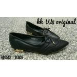 รองเท้าคัทชู ส้นเตี้ย หนังนิ่มแต่งลายรอบตัวสวยเก๋ ส้นเคลือบเงาดูดี ใส่สบาย ทรงสวย แมทสวยได้ทุกชุด (600543)