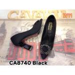 รองเท้าคัทชู ส้นสูง แต่งอะไหล่หรูด้านหน้า ทรงหัวแหลมดูเท้าเรียว หนังนิ่มอย่างดี พื้นนิ่ม ส้นตัดดีไซน์เก๋ สูงประมาณ 4 นิ้ว แมทสวยได้ทุกชุด (CA8740)