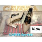 รองเท้าคัทชู ส้นสูง สวยหรู แต่งอะไหล่ทองคาดด้านหน้า มีสายรัดหน้าเท้าเพิ่มความกระชับ หนังนิ่ม ทรงสวย ส้นดีไซน์เหลี่ยมสวยเก๋ สูงประมาณ 4 นิ้ว แมทสวยได้ทุกชุด (CA9165)