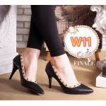 รองเท้าคัทชู ส้นสูง แต่งหมุดขอบสไตล์วาเลนติโน ส้นประมาณ 3.5 นิ้ว ทรงสวย ใส่สบาย แมทสวยได้ทุกชุด