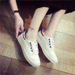 รองเท้าผ้าใบแฟชั่น สวยเก๋เท่ห์ ทรงสวยสไตล์เกาหลี แต่งขอบสวยเก๋ ผูกเชือกหน้า ใส่สบาย ใส่เที่ยว ออกกำลังกาย แมทสวยได้ทุกชุด