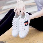 รองเท้าผ้าใบแฟชั่น แต่งแถบสีด้านข้างสไตล์แบรนด์สวยเก๋ วัสดุอย่างดี ทรงสวย ใส่สบาย ใส่เที่ยว ออกกำลังกาย แมทสวยเท่ห์ได้ทุกชุด (8895)