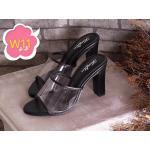 รองเท้าแฟชั่น ส้นสูง แบบสวม คาดหน้าใสสวยเก๋ ส้นสูงประมาณ 4 นิ้ว ทรงสวย เก็บหน้าเท้า แมทสวยได้ทุกชุด