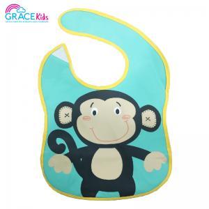 เกรซคิดส์ผ้ายางกันเปื้อนรุ่นมีที่รองอาหาร ลายลิงน้อย