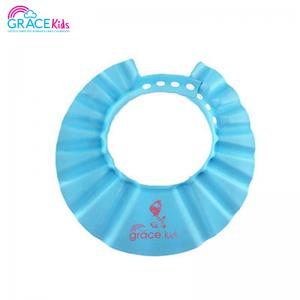 เกรซคิดส์หมวกอาบน้ำกันแชมพู แบบปรับขนาดได้ สีฟ้า