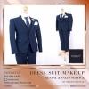 ชุดสูท เสื้อสูท ผ้าเรียบ สีน้ำเงินเข้ม สูท ผู้ชาย ( Men Suits ) ชุดไปงานแต่ง ชาย เนื้อผ้า canvaz