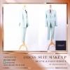 ชุดสูท เสื้อสูท สีเขียว เนื้อผ้า canvaz ชุดไปงานแต่ง ชาย สูท ผู้ชาย ( Suits ) ผ้าเรียบ