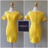 ชุดเดรสHerve Leger ชุดเดรสสีเหลืองเข้ารูป สีสวย สดใส มองดูแล้วสะอาดตามากๆๆ เด่นไม่เหมือนใครค่ะ