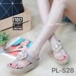 รองเท้าแตะแฟชั่น สวยเก๋ แบบหนีบ แต่งดอกไม้น่ารัก พื้นซอฟคอมฟอตนิ่มสไตล์ฟิตฟลอบ ใส่สบายมาก แมทสวยได้ทุกชุด (F1017)