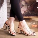 รองเท้าแฟชั่น แบบสวม ส้นสูง ดีไซน์หนังเส้นหุ้นหน้าเท้าสวยเก๋ หนังนิ่ม เก็บหน้าเท้า ทรงสวย ใส่สบาย ส้นสูงประมาณ 2.5 นิ้ว แมทสวยได้ทุกชุด