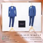 ชุดสูท สีน้ำเงิน สไตล์ วินเทจ เสื้อสูท สูท ผู้ชาย ( Suits )