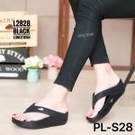 รองเท้าแตะแฟชั่น เพื่อสุขภาพ แบบหนีบ เรียบเก๋ดูดี หนังนิ่ม แต่งอะไหล่จรเข้ เพิ่มความหรู พื้นซอฟคอมฟอตนุ่มแบบฟิตฟลอบ รับน้ำหนักดี เบา ใส่เดินสบาย ได้ทุกวัน (L2828)