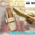 รองเท้าคัทชู รัดส้น ทรงหัวตัด แต่งคาดเข็มขัดสวยเก๋ หนังนิ่ม ทรงไม่บีบเท้า ใส่สบาย ส้นสูง 2 นิ้ว ทรงสวย แมทสวยได้ทุกชุด (CA9104)