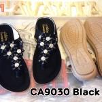 รองเท้าแตะแฟชั่น แบบหนีบ แต่งอะไหล่สวยหรู ใส่สบาย แมทสวยได้ทุกชุด (CA9030)