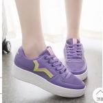 รองเท้าผ้าใบแฟชั่น แต่งลายด้านข้างสวยเก๋ วัสดุอย่างดี ทรงสวย ใส่สบาย ใส่เที่ยว ออกกำลังกาย แมทสวยเท่ห์ได้ทุกชุด