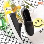 รองเท้าคัทชู ทรง slip on หนังนิ่มแต่งเชือกผูก วัสดุอย่างดี ทรงสวย ใส่สบาย แมทสวยเท่ห์ได้ทุกชุด (351)