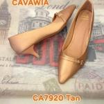 รองเท้าคัทชู ส้นเตี้ย ทรงสวย หัวแหลมเก็บเท้าเรียว ส้นสูงประมาณ 2 นิ้ว ใส่สบาย แมทสวยได้ทุกชุด (CA7920)