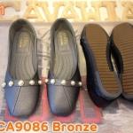 รองเท้าคัทชู ส้นแบน หนังนิ่ม แต่งมุกด้านหน้าสวยเก๋ พื้นยางนิ่มยืดหยุ่น ทรงสวย ใส่สบาย แมทสวยได้ทุกชุด (CA9086)