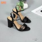 รองเท้าแฟชั่น ส้นสูง รัดสน แบบสวม แต่งอะไหล่ GG สวยอินเทรนด์ ส้นสูงประมาณ 3 นิ้ว แมทสวยได้ทุกชุด (G1260)
