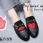 รองเท้าคัทชู เปิดส้น แต่งอะไหล่ปักลายสวยเก๋น่ารัก ทรงสวยเก็บหน้าเท้า ส้นสูงประมาณ 1.5 นิ้ว ใส่สบาย แมทสวยได้ทุกชุด (17-5170)