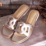 รองเท้าแตะแฟชั่น แบบสวม แต่งลายสไตล์แอร์เมสรุ่นล่าสุด พื้นนิ่มใส่สบาย แมทสวยได้ทุกชุด (FT-408)