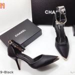 รองเท้าคัทชู ส้นสูง รัดข้อ แต่งอะไหล่ทองด้านหน้าและที่สายรัดข้อสวยหรู หนังนิ่ม ทรงสวยดูเท้าเรียว ส้นสูงประมาณ 3 นิ้ว ใส่สบาย แมทสวยได้ทุกชุด (K2919)
