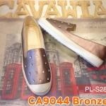 รองเท้าคัทชู สไตล์ผ้าใบ slip on แต่งเพชรหรูน่ารัก ใส่สบาย แมทเก๋ได้ทุก (CA9044)