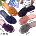 รองเท้าแตะแฟชั่น แบบสวม คาดหน้าแต่งโบว์สวยเก๋ พื้นนิ่ม ใส่สบาย แมทสวยได้ทุกชุด (DJ-4683)