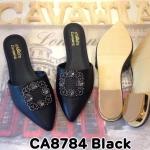 รองเท้าคัทชู เปิดส้น แต่งอะไหล่หรูด้านหน้า ทรงสวย หนังนิ่มใส่สบาย แมทสวยได้ทุกชุด (CA8784)