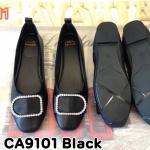 รองเท้าคัทชู ส้นแบน แต่งอะไหล่เพชรสวยเรียบเก๋ ทรงสวย หนังนิ่ม ใส่สบาย แมทสวยได้ทุกชุด (CA9101)