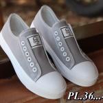 รองเท้าผ้าใบแฟชั่น สไตล์ converse ไร้เชือกสวยเก๋ วัสดุอย่างดี ทรงสวย ใส่สบาย ใส่เที่ยว ออกกำลังกาย แมทสวยเท่ห์ได้ทุกชุด