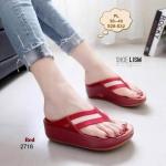 รองเท้าแตะแฟชั่น เพื่อสุขภาพ พื้นซอฟคอมฟอตสไตล์ฟิตฟลอบ แบบหนีบ แต่งสายคาดสลับสีสไตล์กุชชี่สวยเก๋ พื้นนิ่มเบา ใส่สบายมาก แมทเก๋ได้ทุก (L2716)
