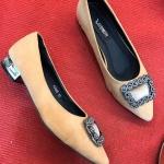 รองเท้าคัทชู ส้นเตี้ย แต่งอะไหล่สวยหรู หนังนิ่มใส่สบาย ส้นสูงประมาณ 1 นิ้ว ทรงสวย แมทสวยได้ทุกชุด (K9008)