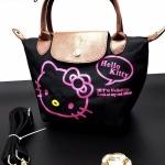 กระเป๋าแฟชั่น ทรง shopping แต่งลายสไตล์คิตตี้สวยน่ารัก ปากกระเป๋าซิป พร้อมสายสะพายยาวถอดได้ ถือหรือสะพายก็สวยดูดี (S3)