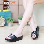 รองเท้าแตะแฟชั่น แบบสวม แต่งลายคิตตี้สวยน่ารัก พื้นซอฟคอมฟอตนิ่มสไตล์ฟิตฟลอบ ใส่สบายมาก แมทสวยได้ทุกชุด (F1048)