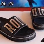 รองเท้าแตะแฟชั่น แบบสวม คาดหน้าแต่งอะไหล่สไตล์ดิออร์สวยเก๋ วัสดุอย่างดี ใส่สบาย แมทสวยได้ทุกชุด (A201)