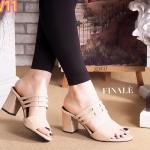 รองเท้าแฟชั่น ส้นสูง แบบสวม ดีไซน์สวยเก๋ ส้นตัดสูงประมาณ 2.5 นิ้ว ทรงสวย ใส่สบาย แมทสวยได้ทุกชุด