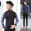 พรีออเดอร์ เสื้อเชิ้ตทำงานแฟชั่นเกาหลีสำหรับผู้ชาย แขนยาวลายดอกไม้เก๋ เท่ห์ - Preorder Men Korean Hitz Slim Long-sleeved Floral Pattern Shirt thumbnail 1