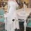 Seoul Secret Say's... Princess Curly Shoulder Off White Dress thumbnail 4